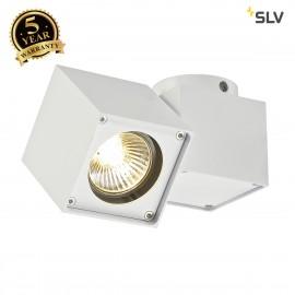 SLV 151521 ALTRA DICE SPOT 1 ceilinglight, square, white, GU10 ,max. 50W