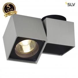 SLV 151524 ALTRA DICE SPOT 1 ceilinglight, square, silver-grey/black, GU10, max. 50W