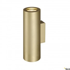 SLV 151803 ENOLA_B UP/DOWN wall light,brass, 2x GU10, max. 2x 50W