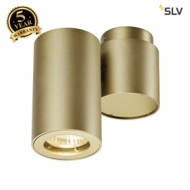 SLV 151823 ENOLA_B SPOT 1 wall andceiling light, single, brass,GU10 , max. 50W
