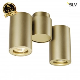 SLV 151833 ENOLA_B SPOT 2 wall andceiling light, double, brass,2x GU10, max. 2x 50W