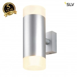 SLV 151901 ASTINA UP/DOWN wall light,round, silver-grey, 2x GU10,max. 2x 50W, frosted glass