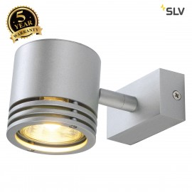 SLV 151912 BARRO 1 wall and ceiling light, round, silver-grey, GU10,50W