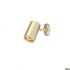 SLV 152013 ENOLA_B wall and ceiling spot,single, brass, GU10, max. 50W