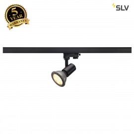 SLV 152200 E27 SPOT, black, max. 75W,incl. 3-circuit adapter