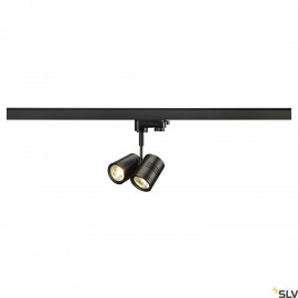 SLV 152230 BIMA II lamp head, black, 2xGU10, max. 2x 50W, incl.3-circuit adapter