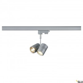 SLV 152232 BIMA II lamp head, silver-grey, 2x GU10, max. 2x 50W, incl.3-circuit adapter