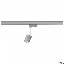 SLV 152242 BIMA I lamp head, silver-grey,GU10, max. 50W, incl. 3-circuit adapter