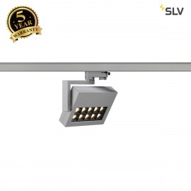 SLV 152544 PROFUNO LED SPOT, silver-grey,3000K LED, 30°, incl.3-circuit adapter