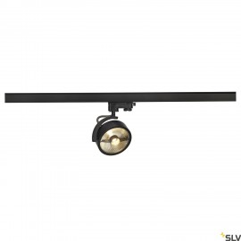 SLV 152610 KALU TRACK QPAR111 lamp head,black, incl. 3-circuit adapter