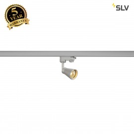 SLV 152644 AVO Spot incl. 3-phase adapter, silver, 1x GU10, max. 50W