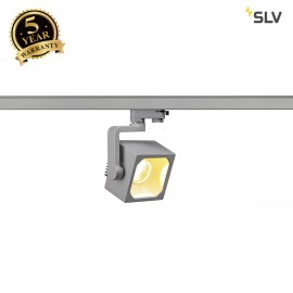 SLV 152754 EURO CUBE SPOT, silver-grey,60°, 3000K COB LED, CRI90,incl. 3-circuit adapter