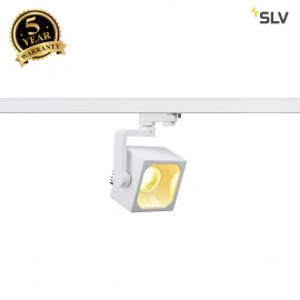 SLV 152761 EURO CUBE SPOT, white, 90°,3000K COB LED, CRI90, incl.3-circuit adapter