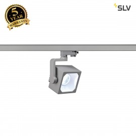 SLV 152784 EURO CUBE SPOT, silver-grey,60°, 4000K COB LED, CRI90,incl. 3-circuit adapter