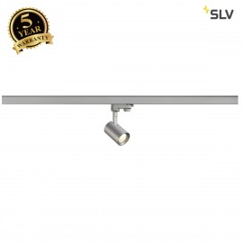 SLV 152954 DEBASTO LED TRACK SPOT, round,silver-grey, 7W COB LED,3000K, incl. 3-circuit adapter