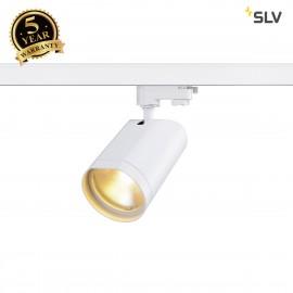 SLV 152981 BILAS SPOT 60° LED, round,matt white, 15W COB LED, 2700K, incl. 3-circuit adapter