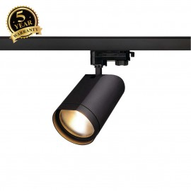 SLV 152990 BILAS SPOT 25° LED, round,matt black, 15W COB LED, 2700K, incl. 3-circuit adapter