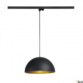 SLV 153130 FORCHINI M pendant, 40cm,round, black/gold, E27, withblack 3-circuit adapter