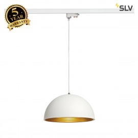 SLV 153131 FORCHINI M pendant, 40cm,round, white/gold, E27, withwhite 3-circuit adapter