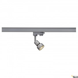 SLV 153564 PURI lamp head, silver-grey,GU10, max. 50W, incl. 3-circuit adapter