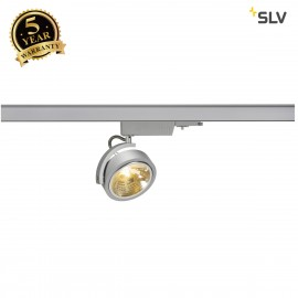 SLV 153584 KALU TRACK QRB111, silver-grey, max. 50W, incl. 3-circuitadapter