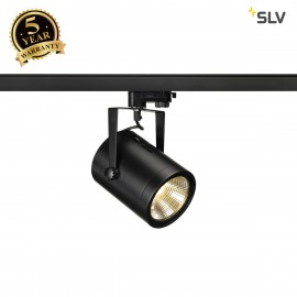 SLV 153810 EURO SPOT LED, 20W COB LED,black, 36°, 3000K, incl.3-circuit adapter
