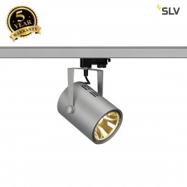 SLV 153814 EURO SPOT LED, 20W COB LED,silver-grey, 36°, 3000K, incl.3-circuit adapter