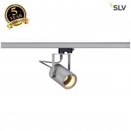 SLV 153854 EURO SPOT GU10, silver-grey,max. 25W, incl. 3-circuitadapter