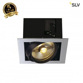 SLV 154602 AIXLIGHT FLAT SINGLE ES111recessed ceiling light,chrome/black, GU10, max. 75W