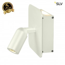 SLV 155101 NAPIA wall light, 2x 1W LED,3000K, white, incl. driver andswitch