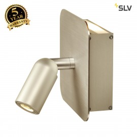 SLV 155103 NAPIA wall light, 2x 1W LED,3000K, champagne, incl. driverand switch