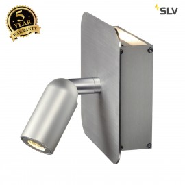 SLV 155104 NAPIA wall light, 2x 1W LED,3000K, alu brushed, incl.driver and switch