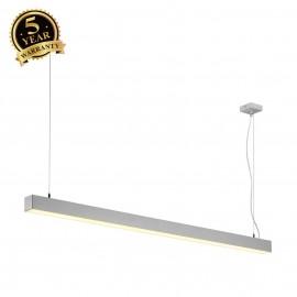 SLV 155124 Q-LINE SINGLE LED, pendant,1500mm, silver