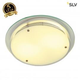 SLV 155185 GLASSA ROUND E27 ceiling light , frosted glass, 2x E27, max. 2x 60W