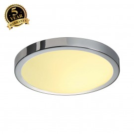 SLV 155272 CORONA ceiling light, CL-1,round, chrome, E27, max. 60W