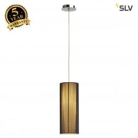 SLV 155380 LASSON pendant, PD-2, round,black, E27, max. 40W
