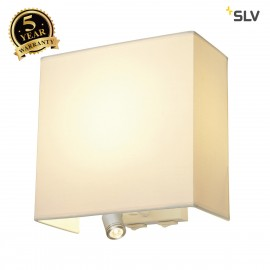 SLV 155673 ACCANTO LEDSPOT wall light,white, E27, max. 24W, incl.LED spot, 1W, 3000K