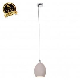 SLV 155710 SOPRANA SOLID pendant, PD-1,concrete, grey, E14, max. 11WESL