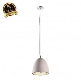 SLV 155711 SOPRANA SOLID pendant, PD-2,concrete, grey, E27, max. 60W,incl. reflector