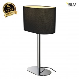 SLV 155840 SOPRANA OVAL table lamp, TL-1,black textile, E27, max. 60W