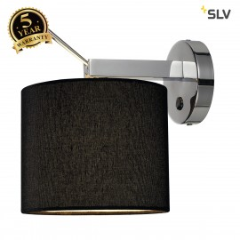 SLV 156020 TENORA wall light, WL-1, black, E27, max. 60W