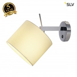 SLV 156021 TENORA wall light, WL-1, white, E27, max. 60W