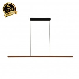 SLV 156267 VINCELLI 2, pendants, LED, 2700K, dark bamboo, dimmable, 29W