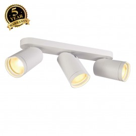 SLV 156441 BILAS SPOT, triple, round,matt white, 3x 15W COB LED,25°, 2700K, with wall plate