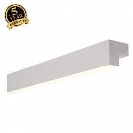 SLV 157434 L-LINE 60 LED, wall andceiling light, IP44, 3000K,1500lm, silver