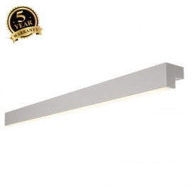 SLV 157444 L-LINE 120 LED, wall andceiling light, IP44, 3000K,3000lm, silver