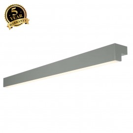 SLV 157445 L-LINE 120 LED, wall andceiling light, IP44, 3000K,3000lm, mouse grey