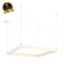 SLV 157651 OPEN GRILL LED, double twistpendant, square, white