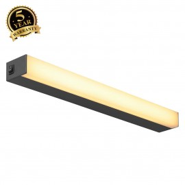 SLV 160180 SIGHT LED, wall and ceilinglight, with switch, 600mm,black
