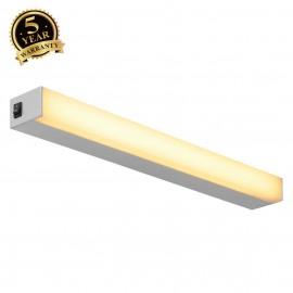 SLV 160184 SIGHT LED, wall and ceilinglight, with switch, 600mm,silver